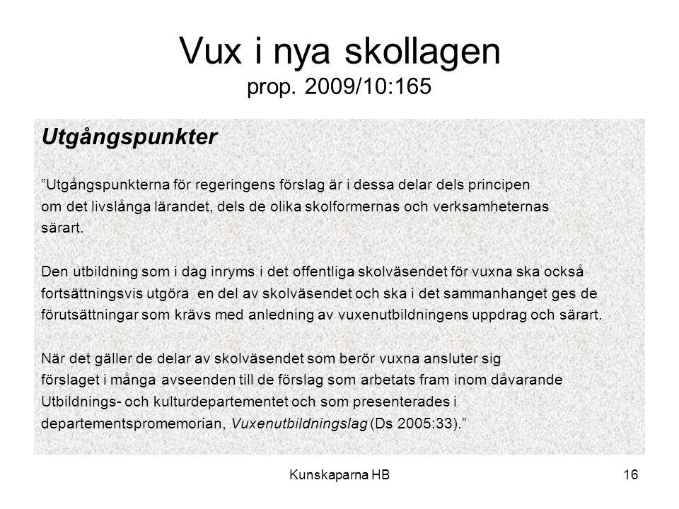 Vux i nya skollagen prop. 2009/10:165