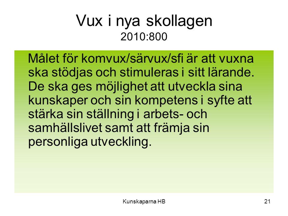 Vux i nya skollagen 2010:800