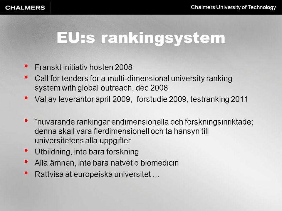 EU:s rankingsystem Franskt initiativ hösten 2008