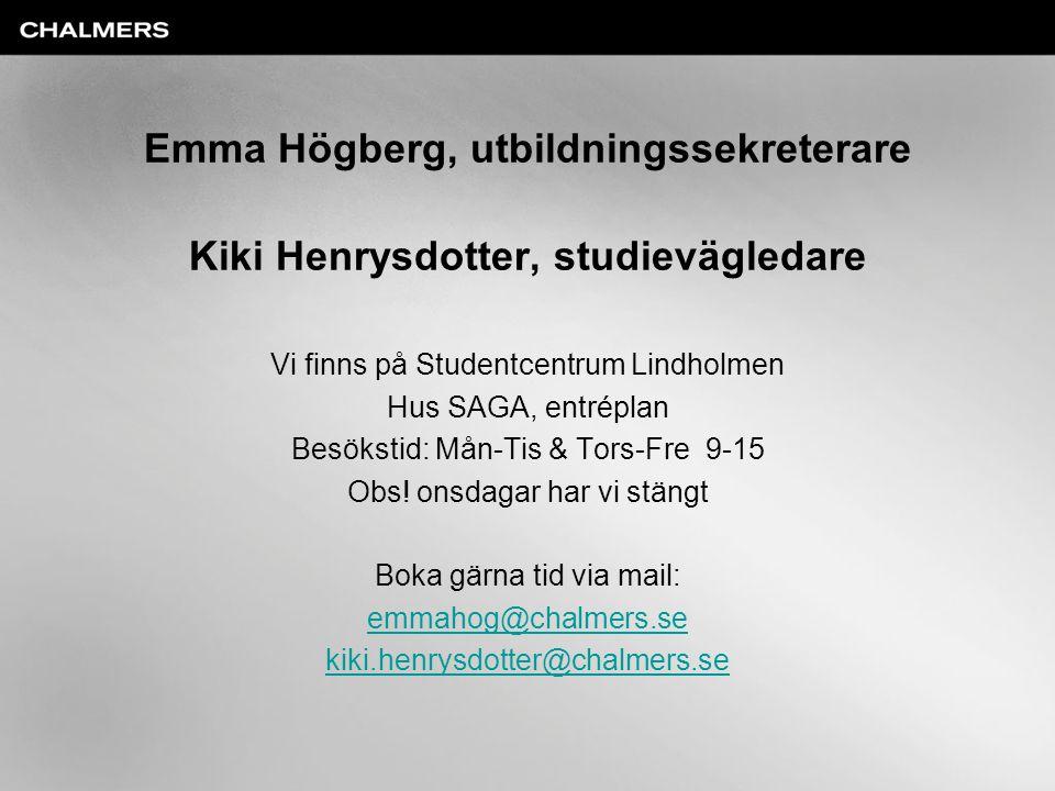 Emma Högberg, utbildningssekreterare