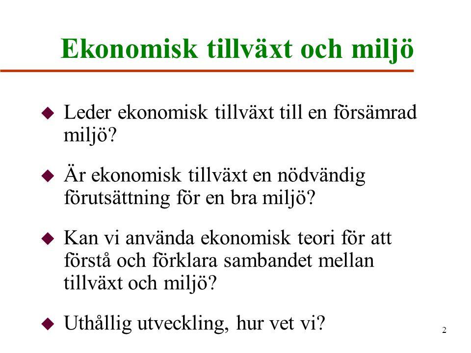 Ekonomisk tillväxt och miljö