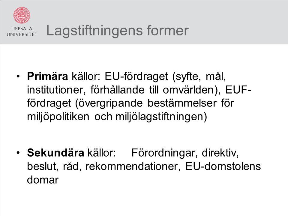 Lagstiftningens former