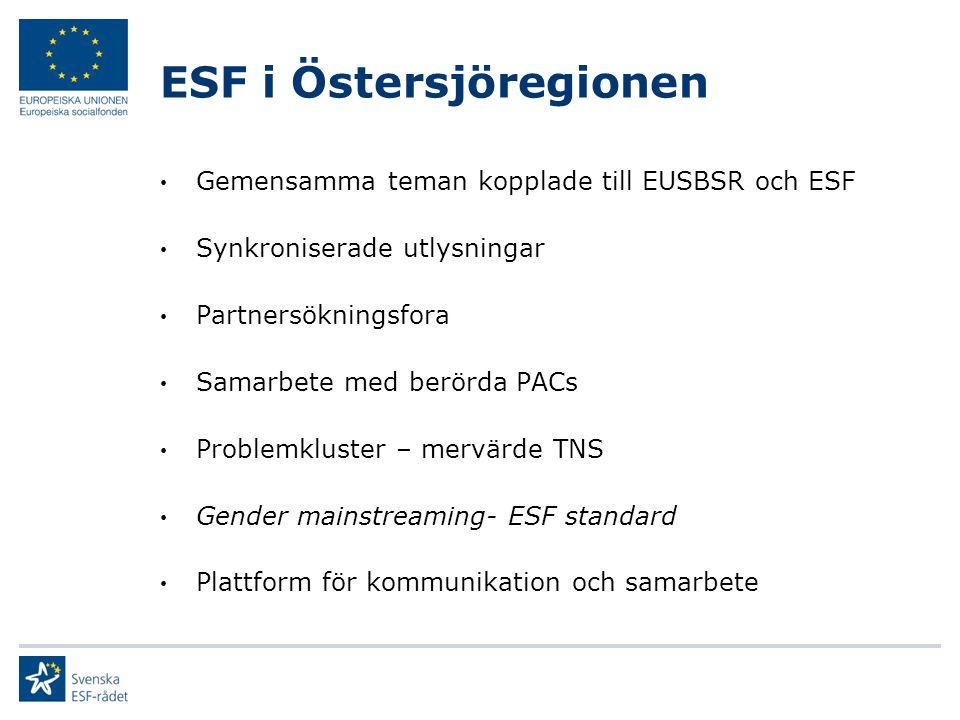 ESF i Östersjöregionen