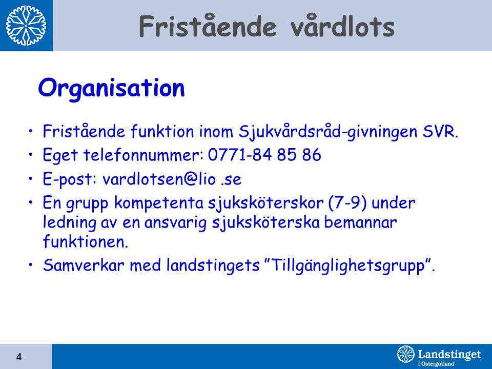 Organisation Fristående funktion inom Sjukvårdsråd-givningen SVR.