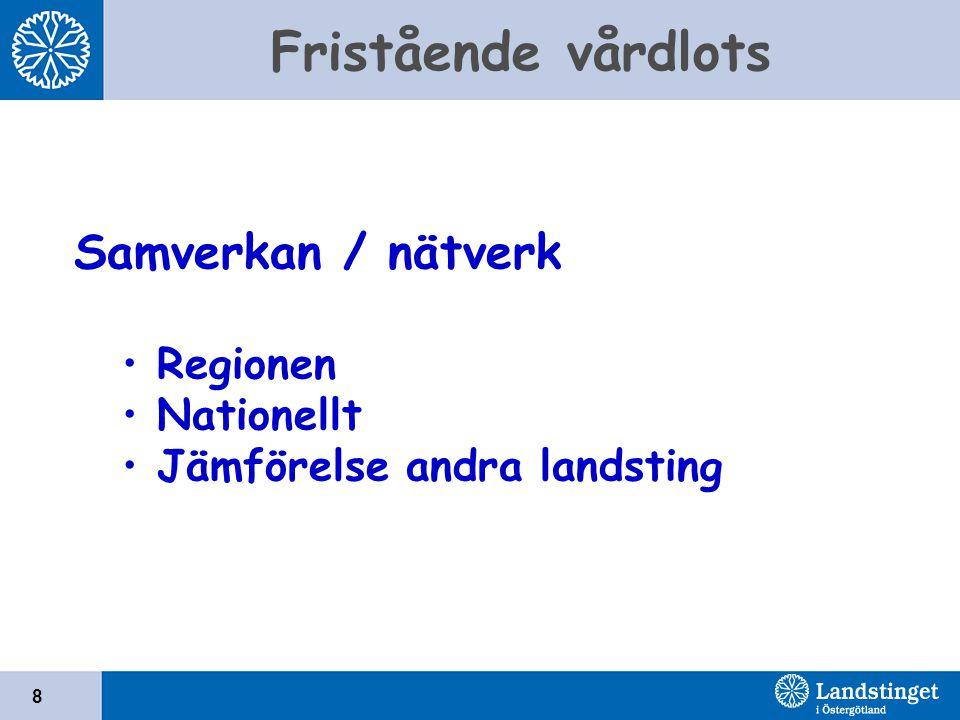 Samverkan / nätverk Regionen Nationellt Jämförelse andra landsting