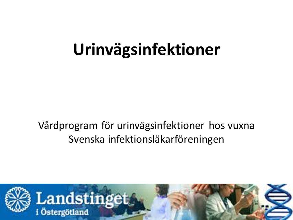 Urinvägsinfektioner Vårdprogram för urinvägsinfektioner hos vuxna Svenska infektionsläkarföreningen