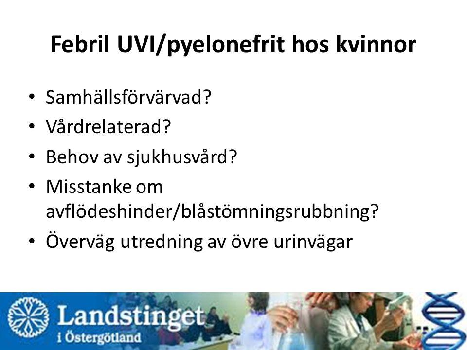 Febril UVI/pyelonefrit hos kvinnor