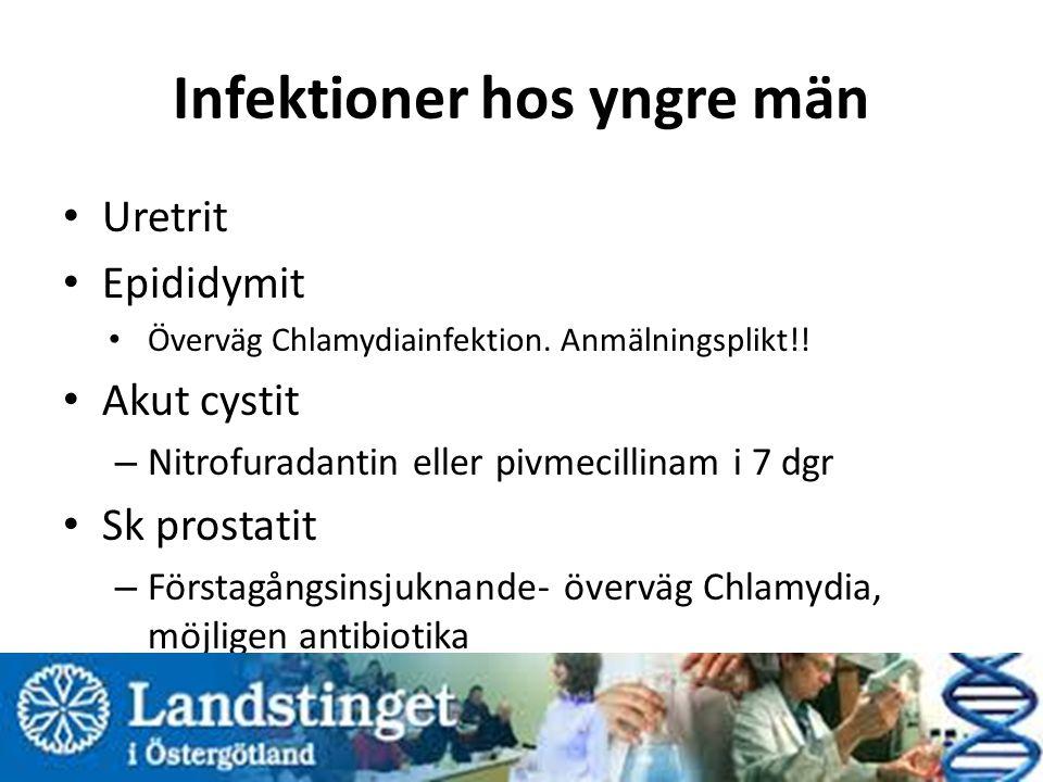 Infektioner hos yngre män
