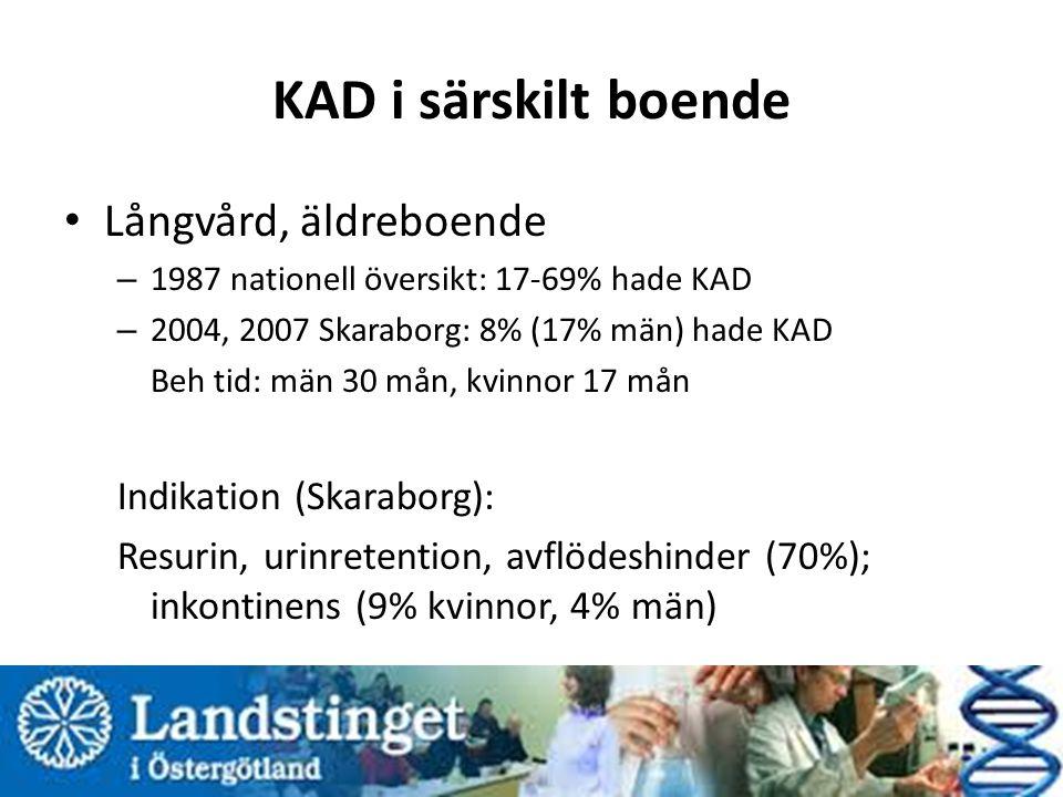 KAD i särskilt boende Långvård, äldreboende Indikation (Skaraborg):