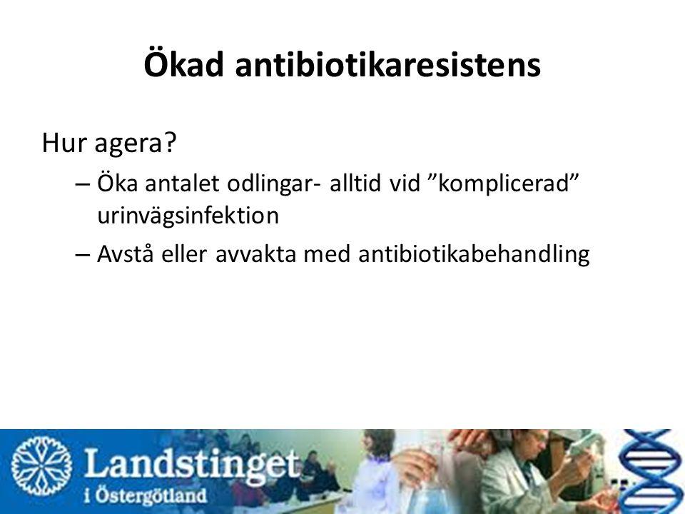 Ökad antibiotikaresistens