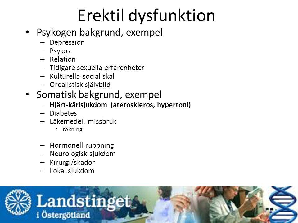 Erektil dysfunktion Psykogen bakgrund, exempel