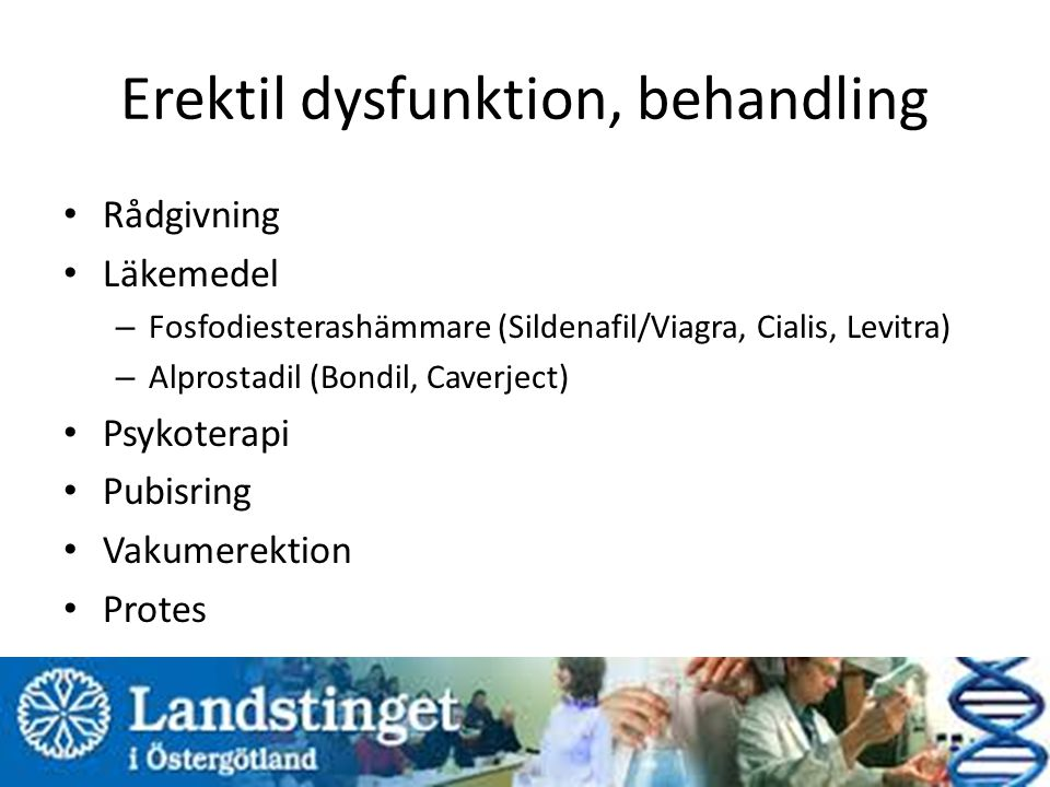 Erektil dysfunktion, behandling