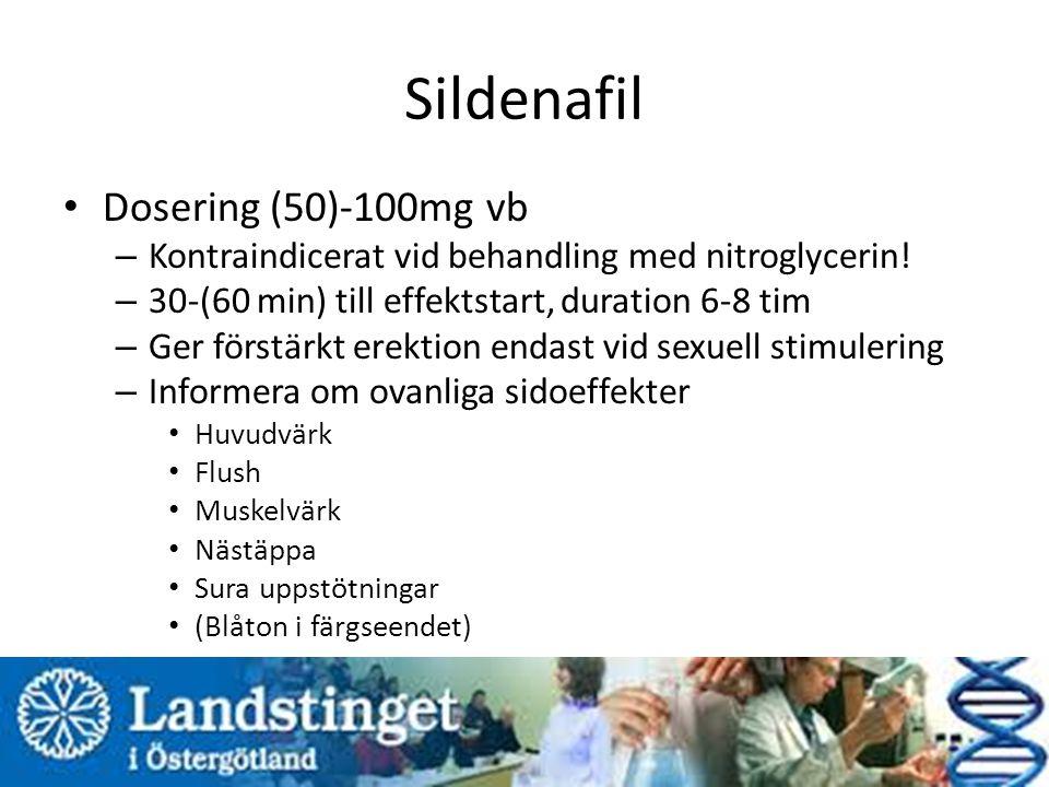 Sildenafil Dosering (50)-100mg vb