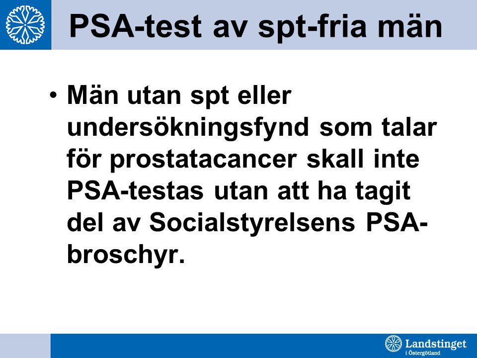 PSA-test av spt-fria män