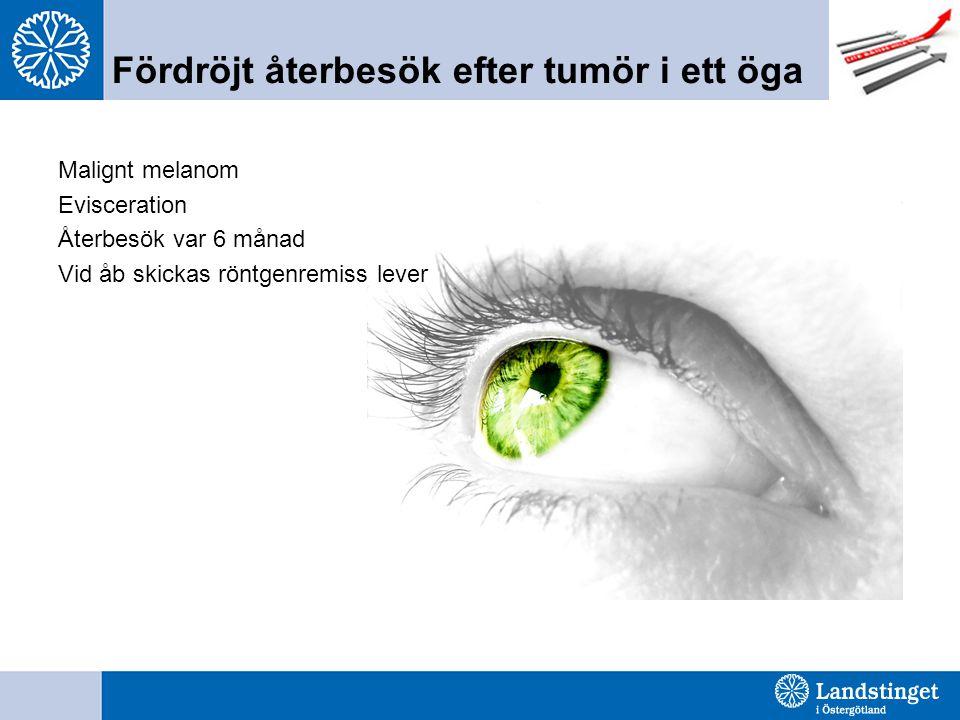 Fördröjt återbesök efter tumör i ett öga