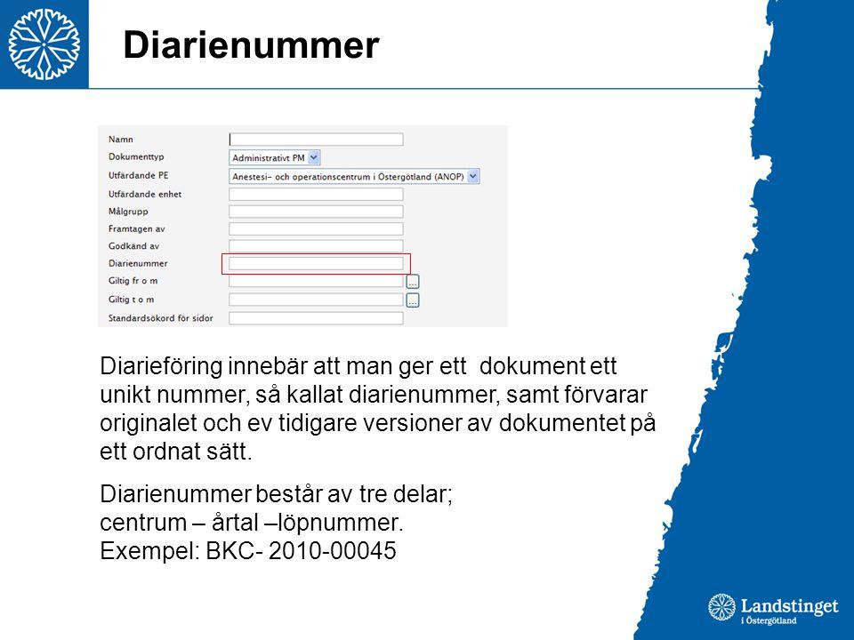 Diarienummer