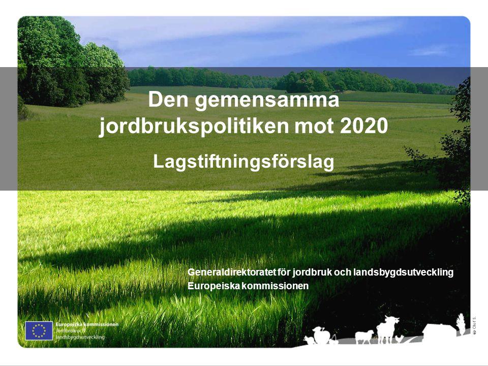 Den gemensamma jordbrukspolitiken mot 2020 Lagstiftningsförslag