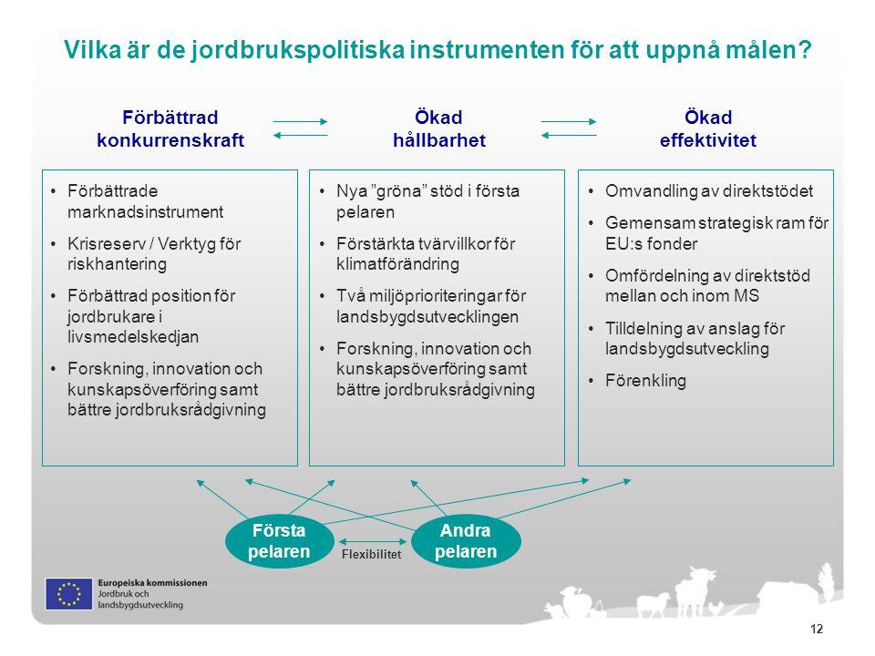 Vilka är de jordbrukspolitiska instrumenten för att uppnå målen
