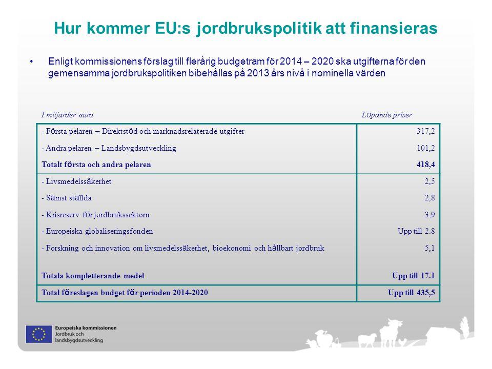 Hur kommer EU:s jordbrukspolitik att finansieras