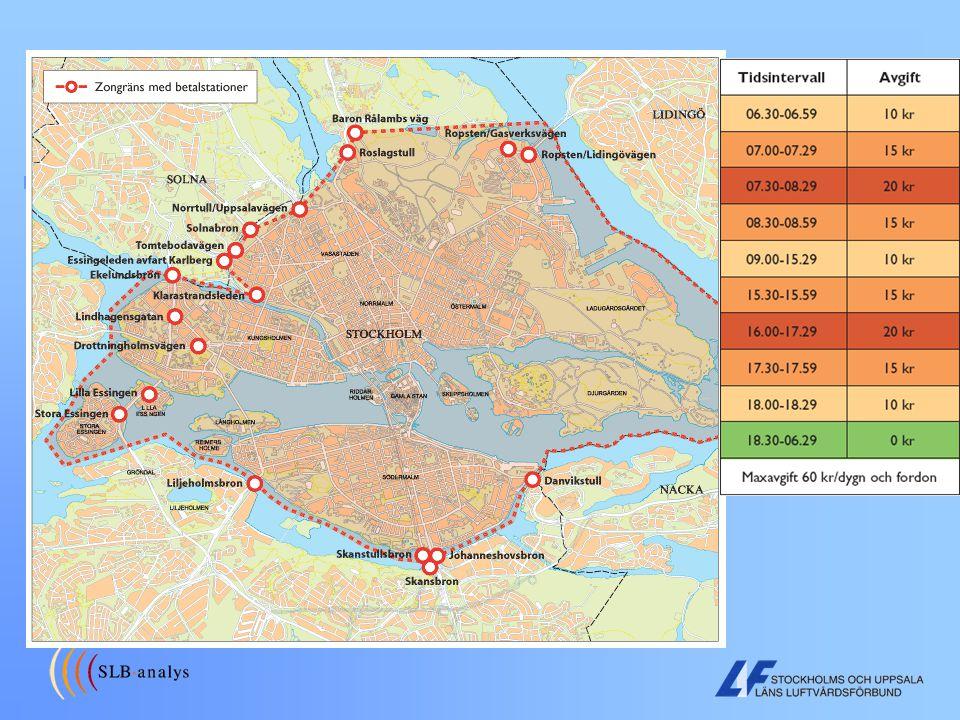 Miljöavgifter i Stockholm (trängselavgifter, trängselskatt…)