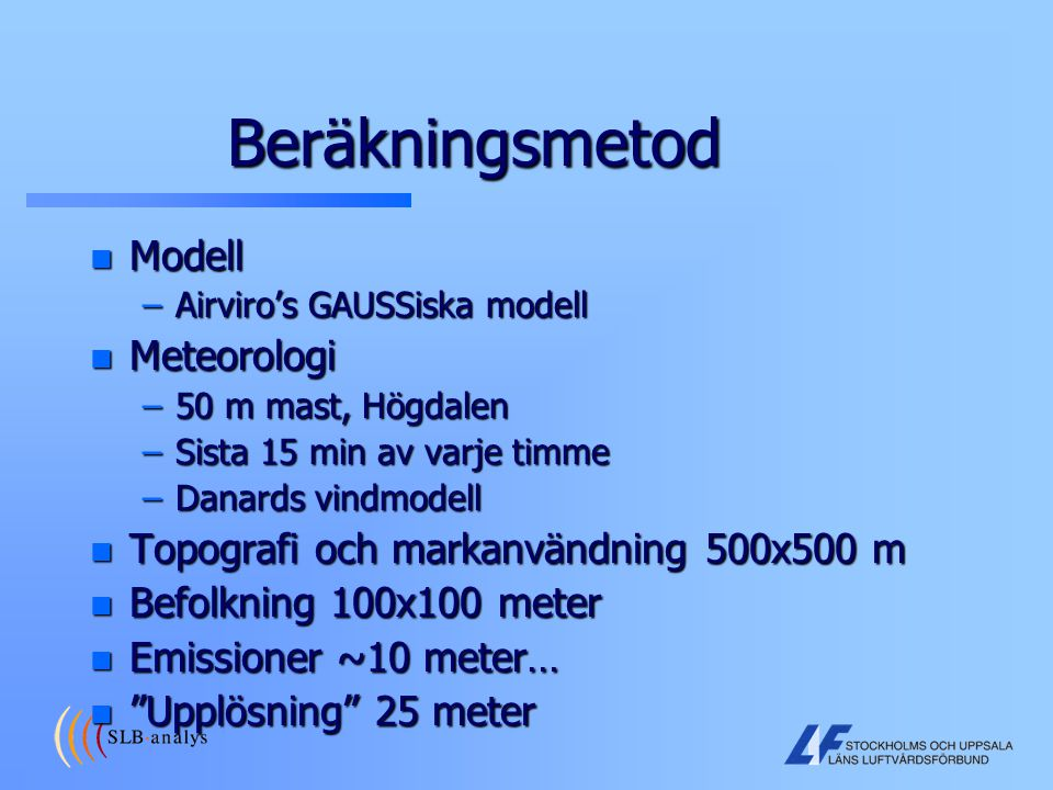 Beräkningsmetod Modell Meteorologi