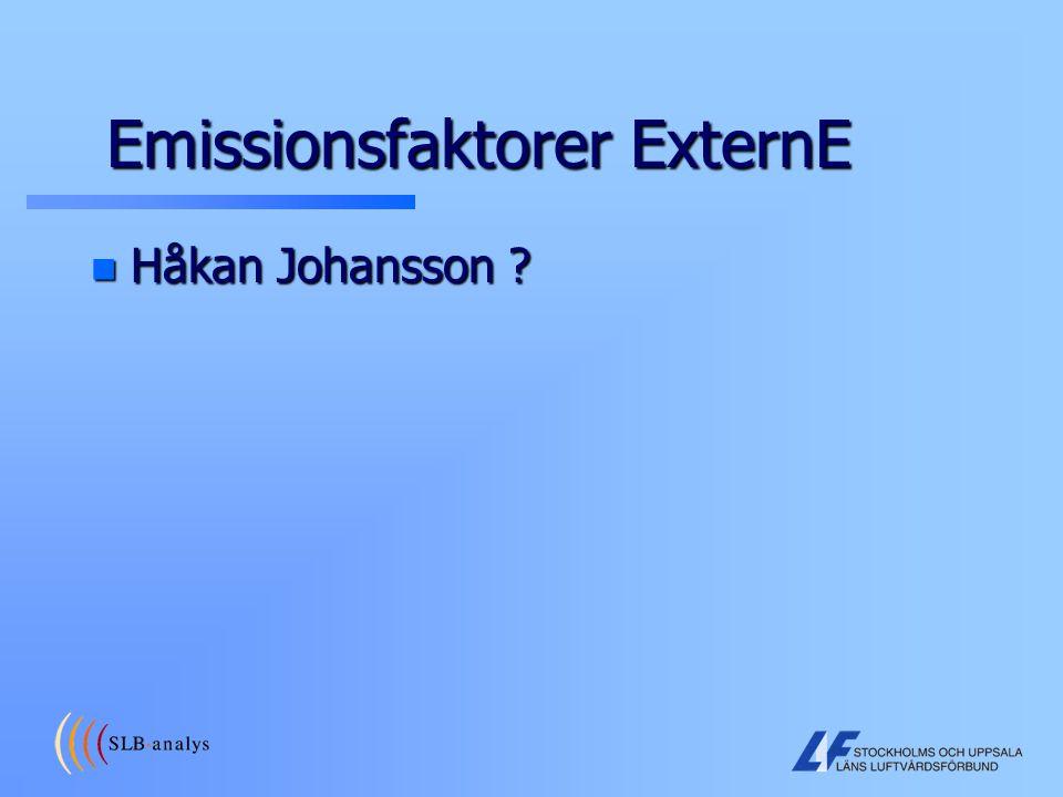 Emissionsfaktorer ExternE