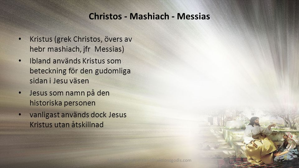 Christos - Mashiach - Messias