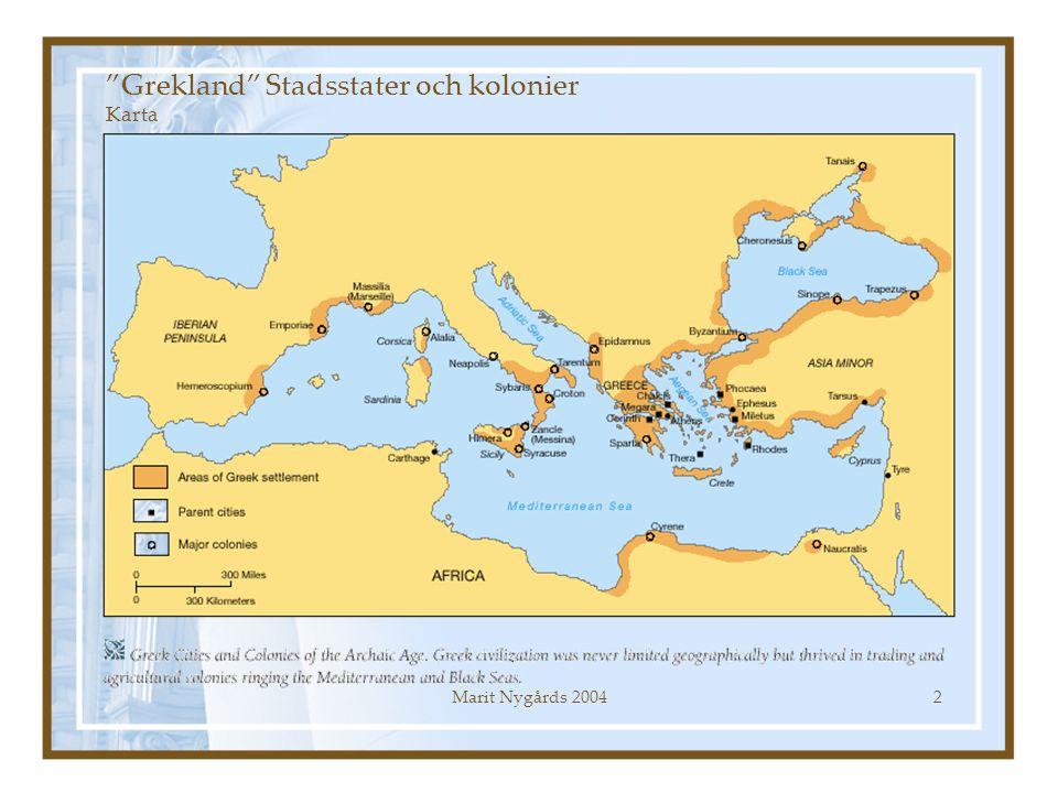Grekland Stadsstater och kolonier Karta