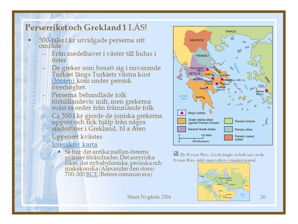Perserriket och Grekland 1 LÄS!