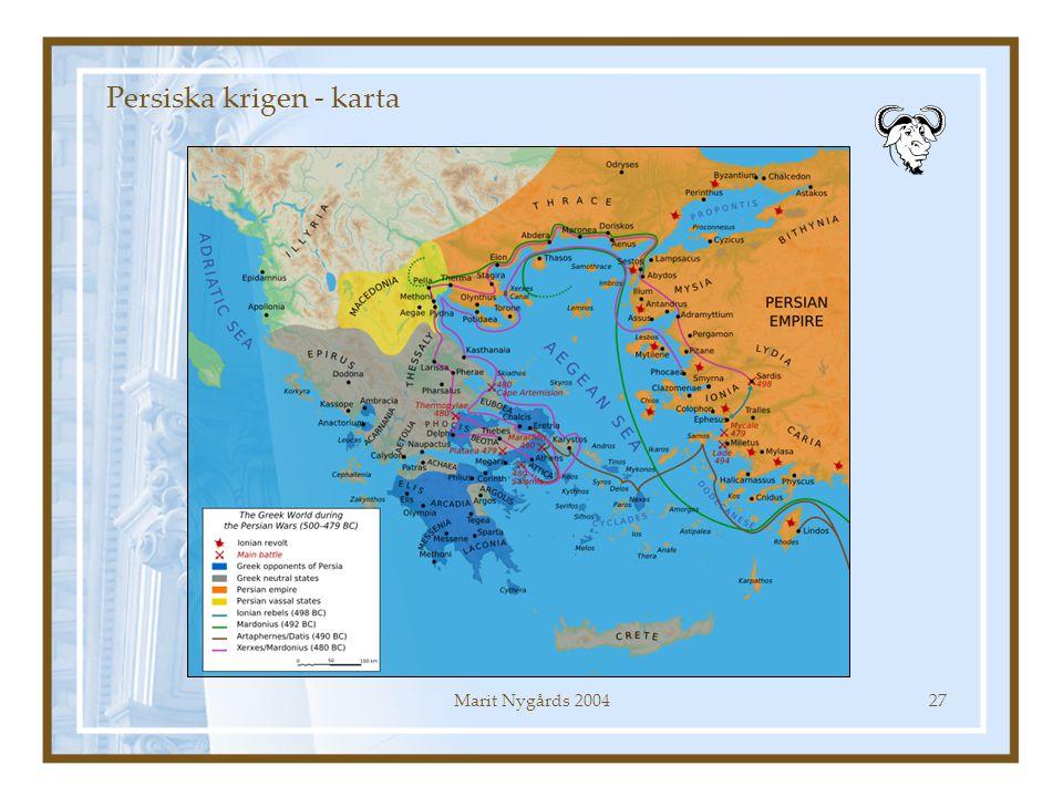 Persiska krigen - karta