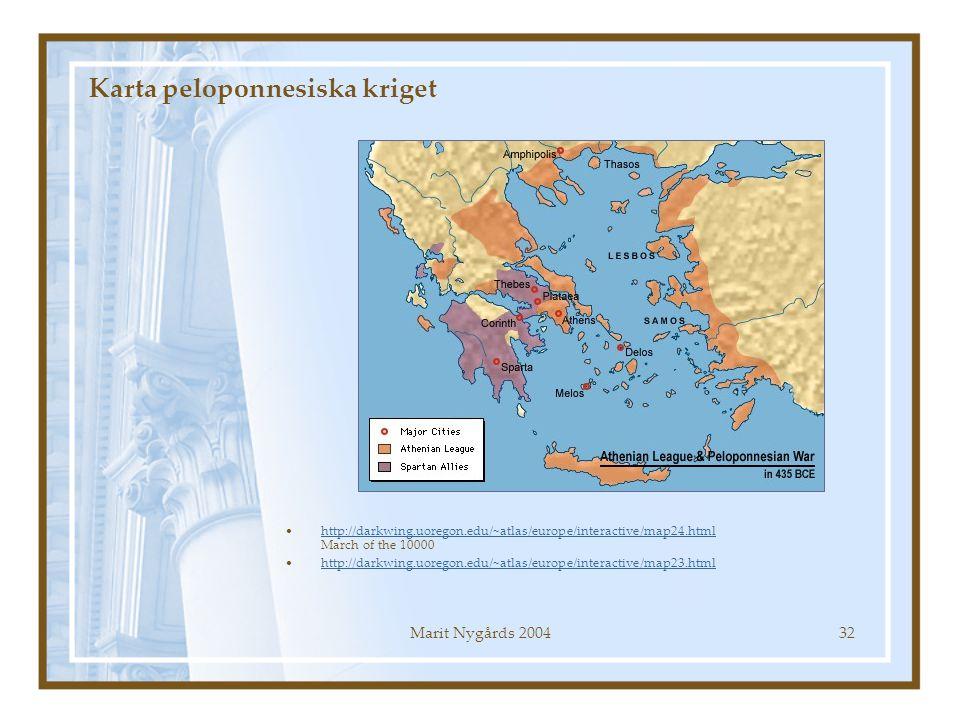 Karta peloponnesiska kriget