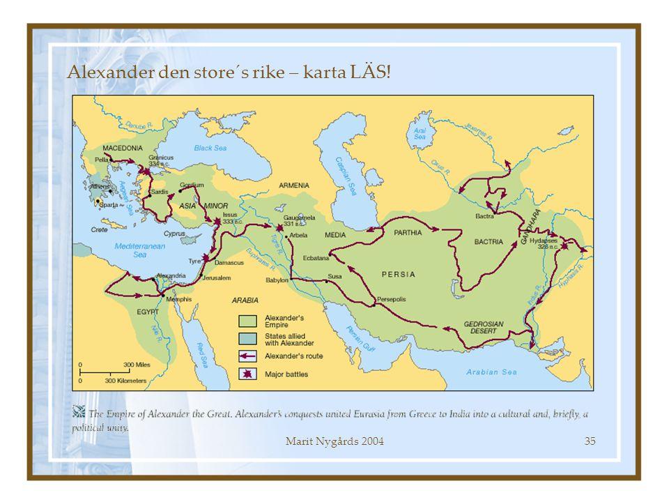 Alexander den store´s rike – karta LÄS!