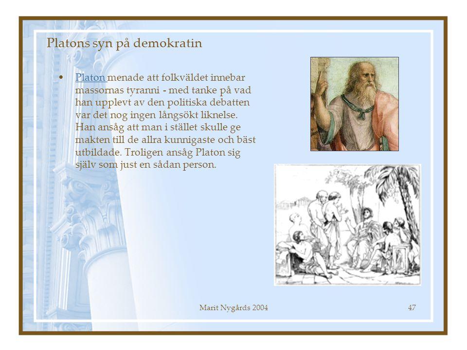 Platons syn på demokratin