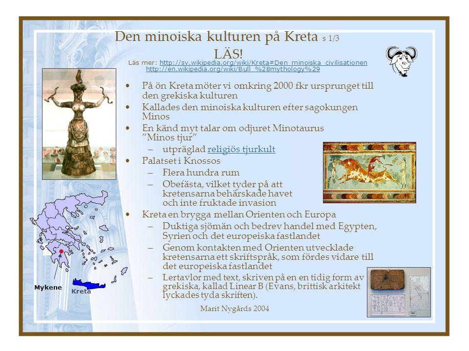 Den minoiska kulturen på Kreta s 1/3 LÄS!