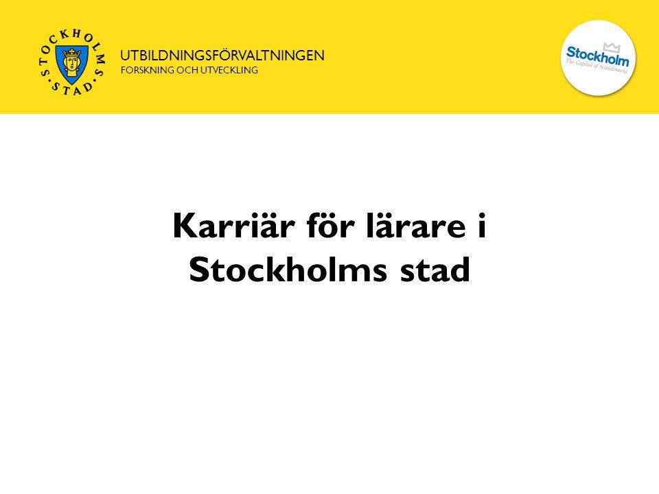 Karriär för lärare i Stockholms stad