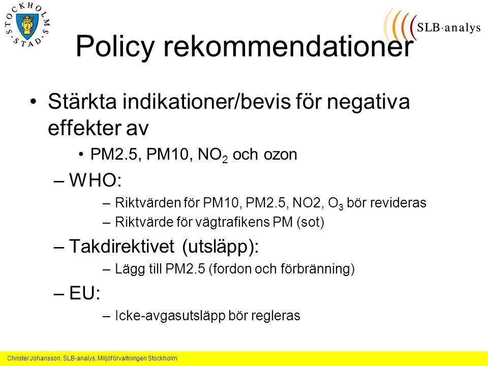 Policy rekommendationer