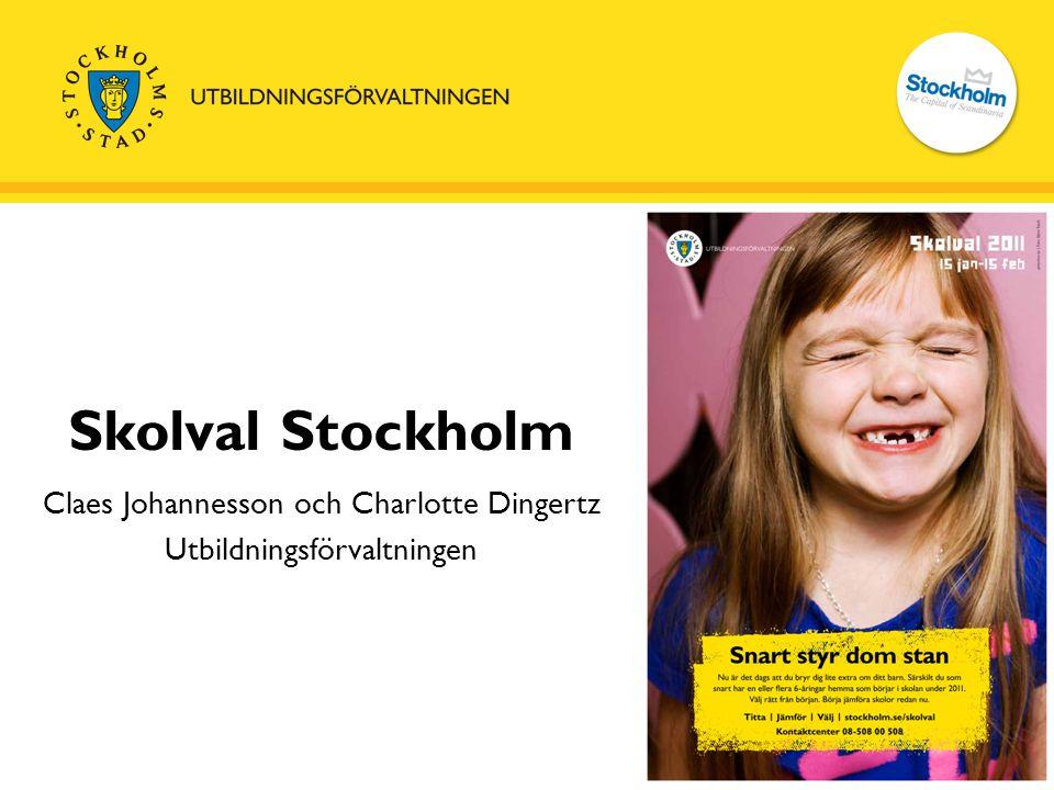 Claes Johannesson och Charlotte Dingertz Utbildningsförvaltningen