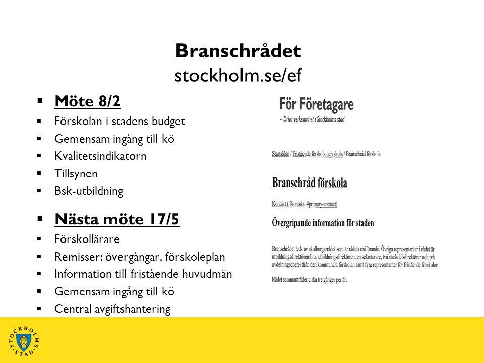 Branschrådet stockholm.se/ef