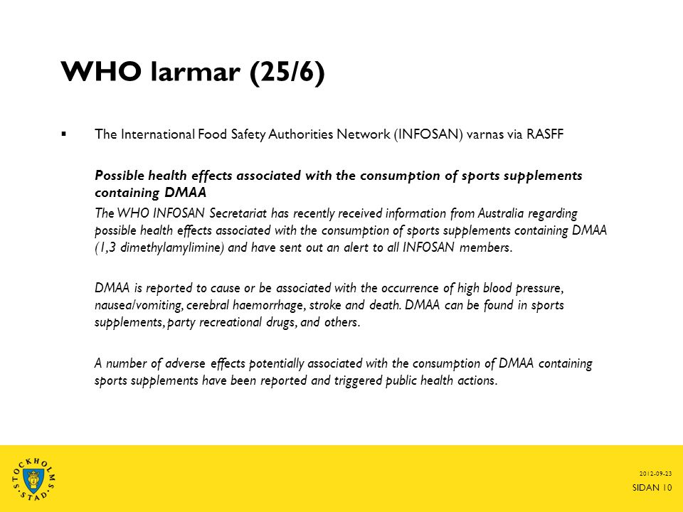 WHO larmar (25/6) The International Food Safety Authorities Network (INFOSAN) varnas via RASFF.