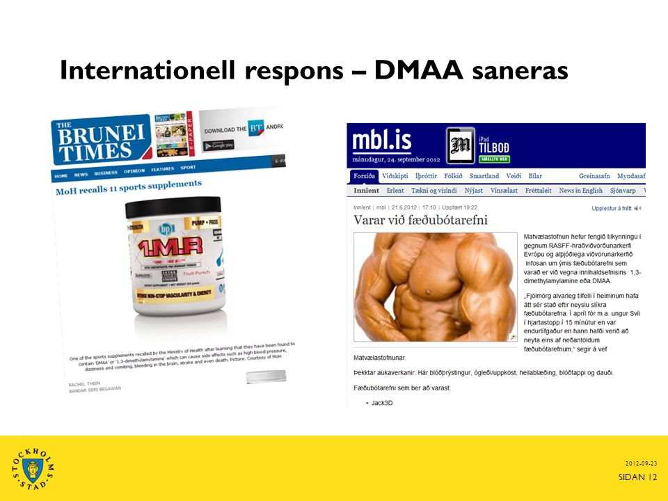 Internationell respons – DMAA saneras