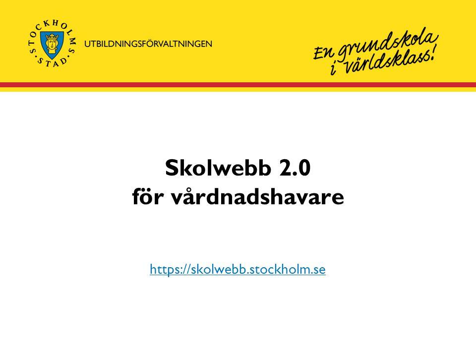 Skolwebb 2.0 för vårdnadshavare
