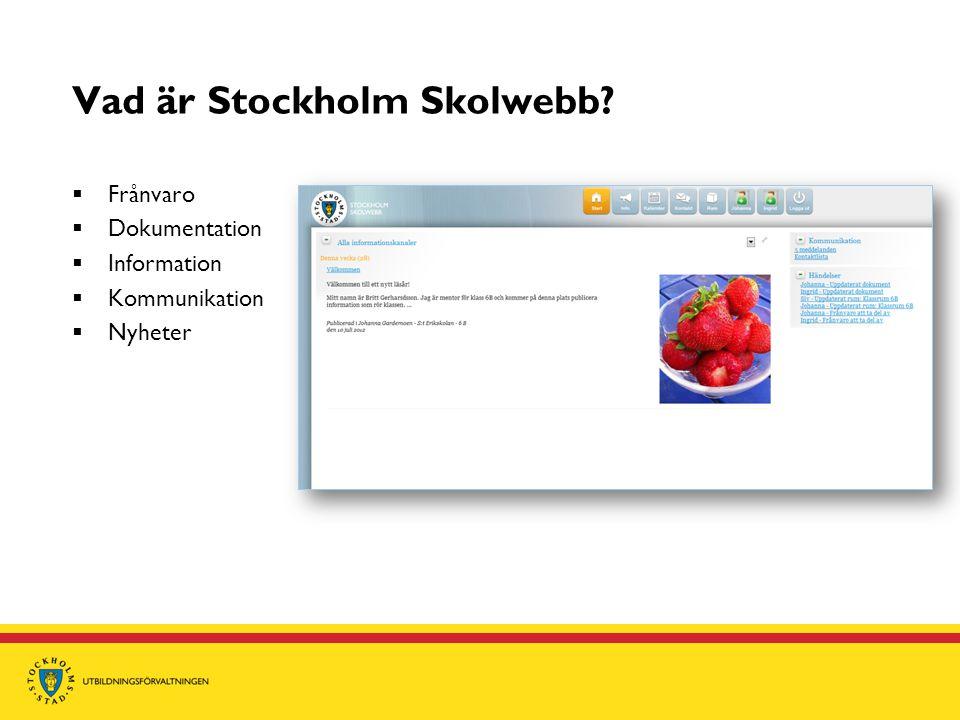 Vad är Stockholm Skolwebb