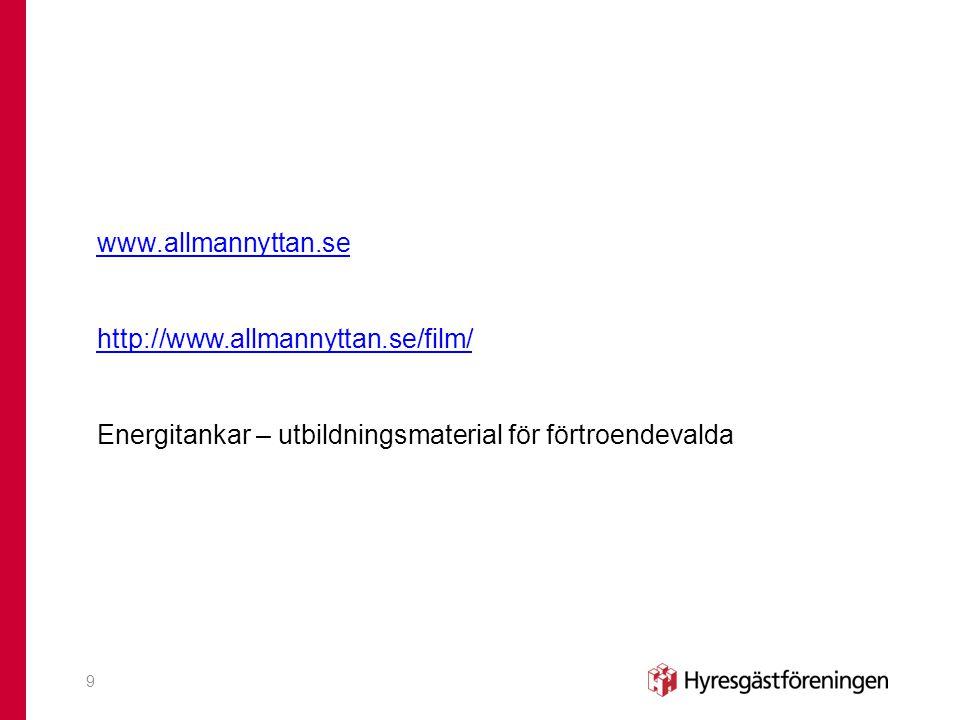 www. allmannyttan. se http://www. allmannyttan