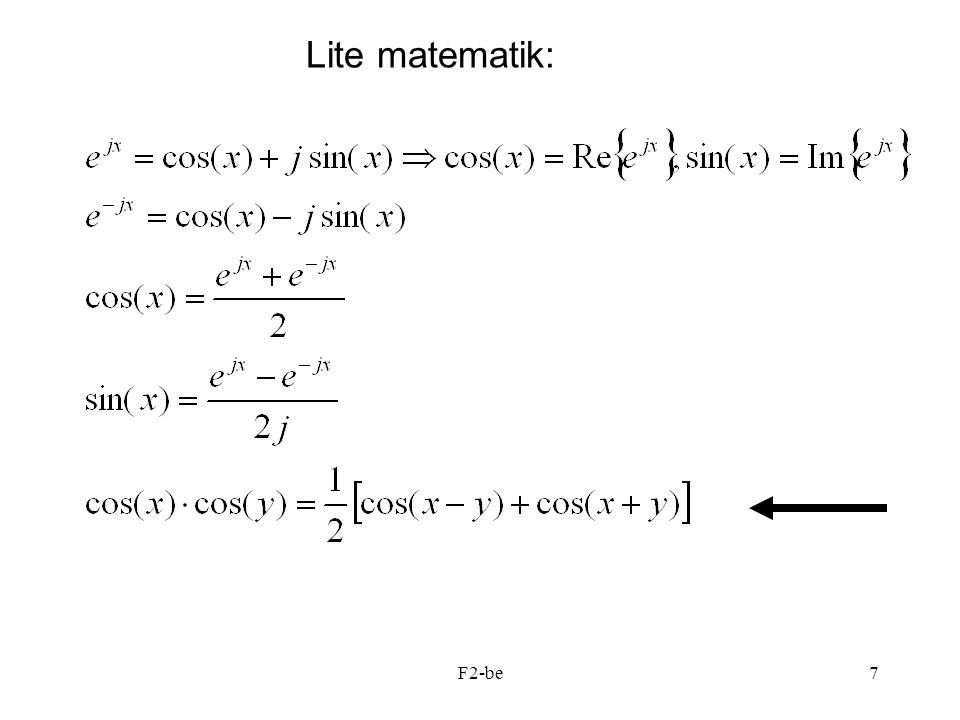 Lite matematik: F2-be