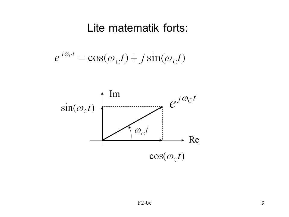 Lite matematik forts: Re Im F2-be
