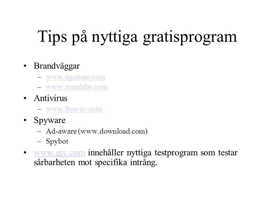 Tips på nyttiga gratisprogram
