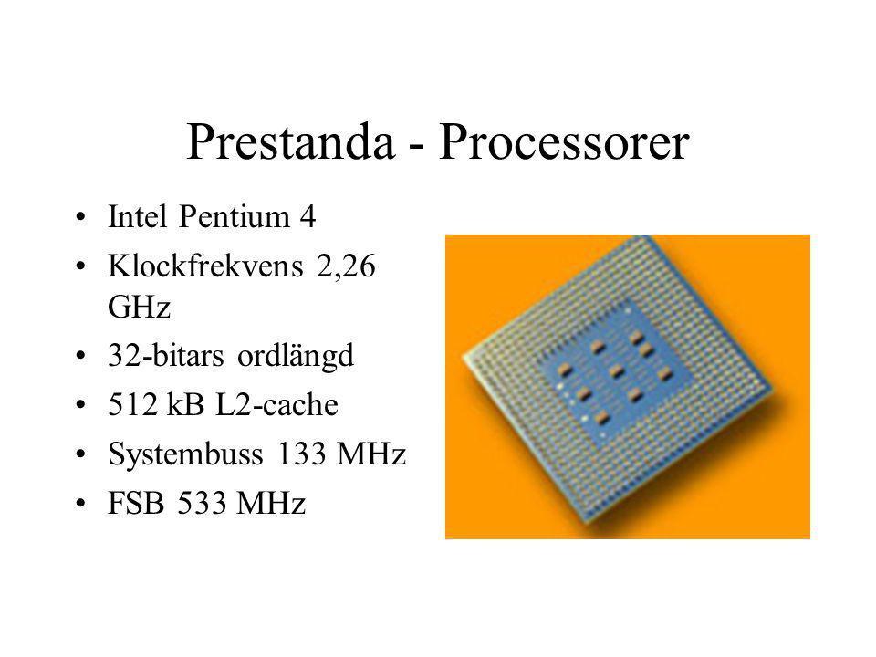 Prestanda - Processorer