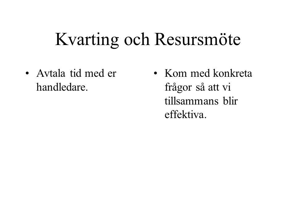 Kvarting och Resursmöte