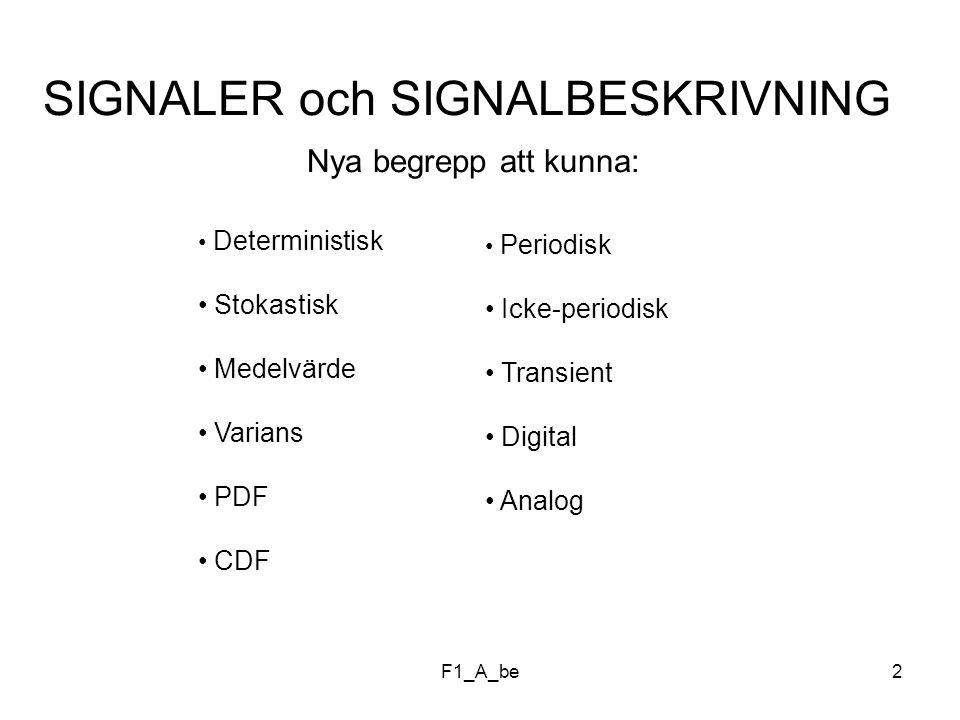 SIGNALER och SIGNALBESKRIVNING