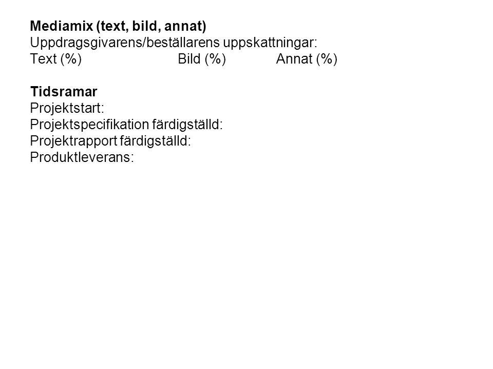 Mediamix (text, bild, annat)